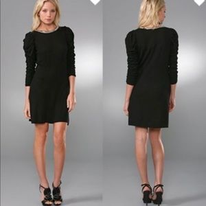 Alice + Olivia Studded Ruched Sleeve Sweater Dress